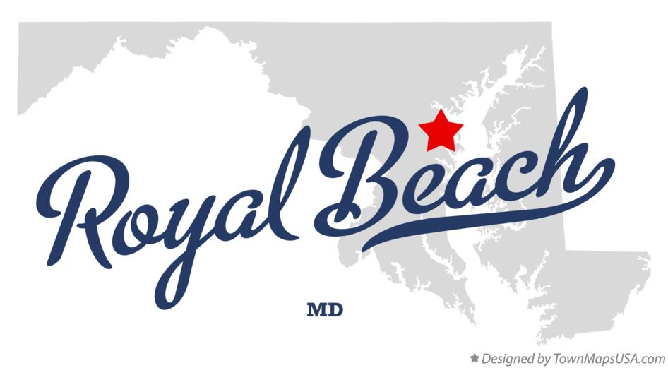 Map of Royal Beach Maryland MD