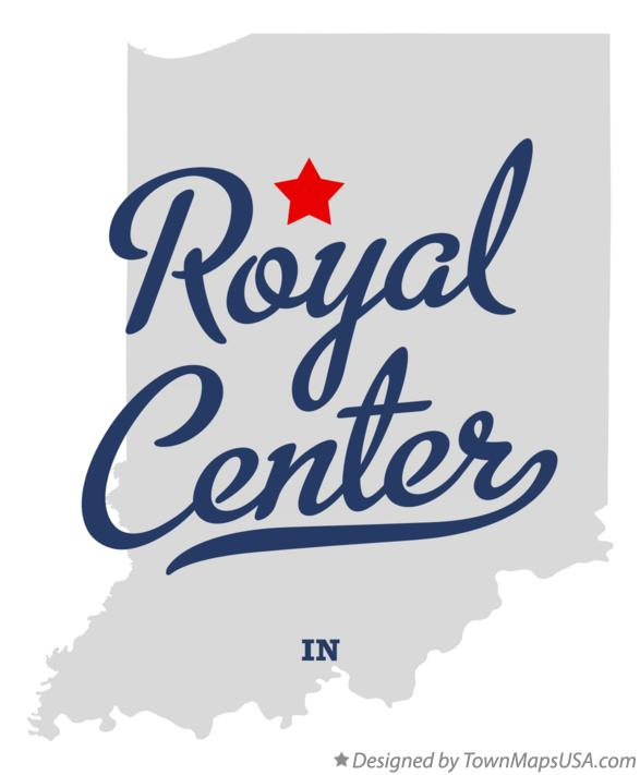 Map of Royal Center Indiana IN