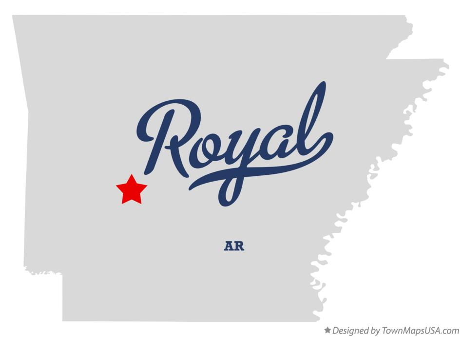 Map of Royal Arkansas AR