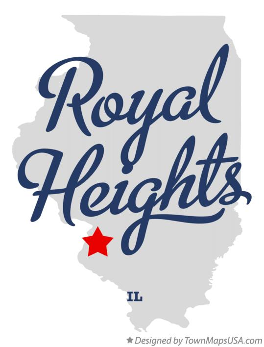 Map of Royal Heights Illinois IL