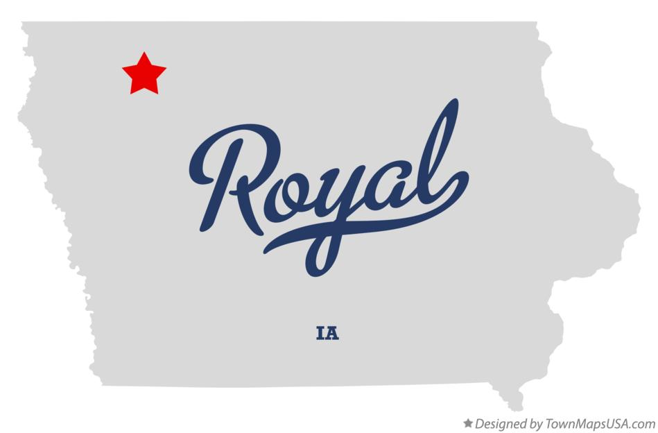 Map of Royal Iowa IA