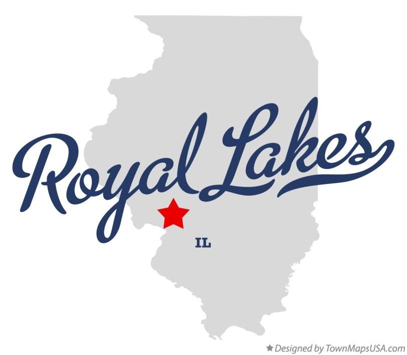 Map of Royal Lakes Illinois IL