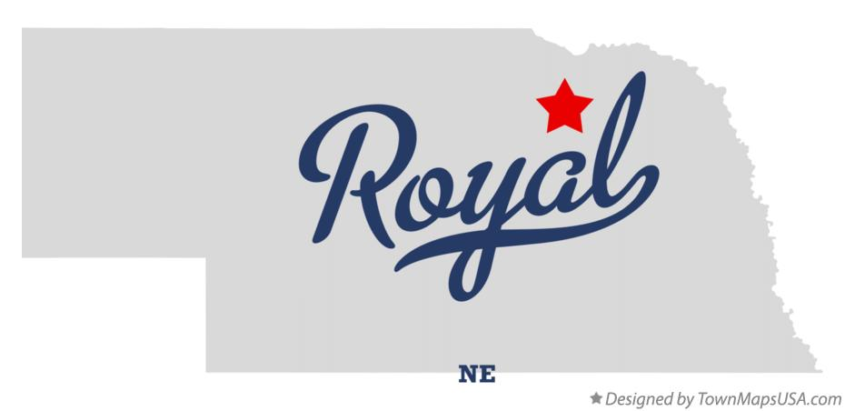 Map of Royal Nebraska NE