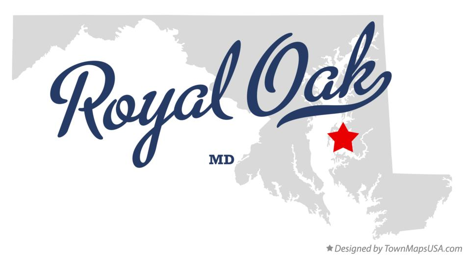 Map of Royal Oak Maryland MD