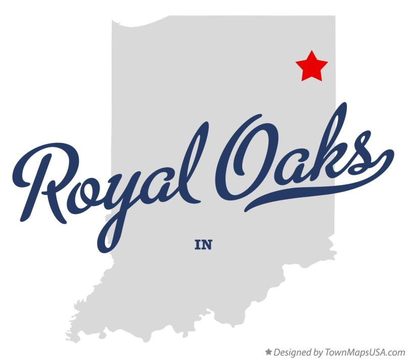 Map of Royal Oaks Indiana IN