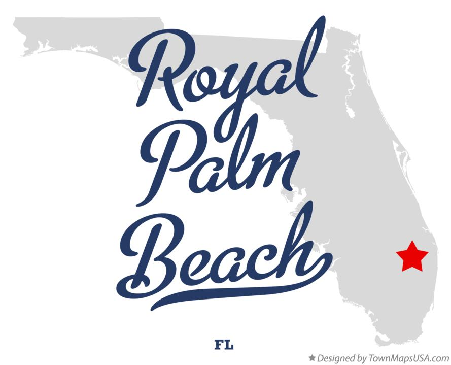 Map of Royal Palm Beach Florida FL