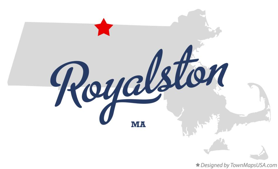 Map of Royalston Massachusetts MA