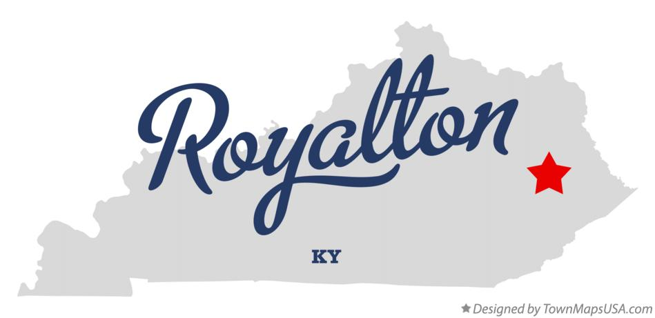 Map of Royalton Kentucky KY