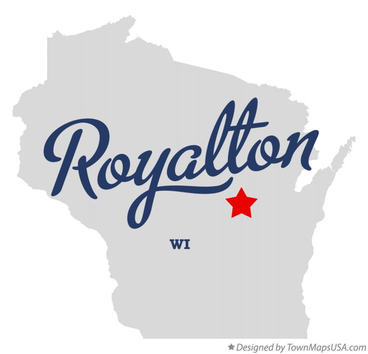 Map of Royalton Wisconsin WI