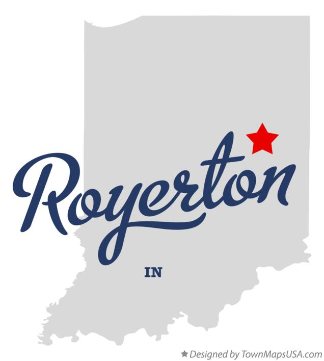Map of Royerton Indiana IN