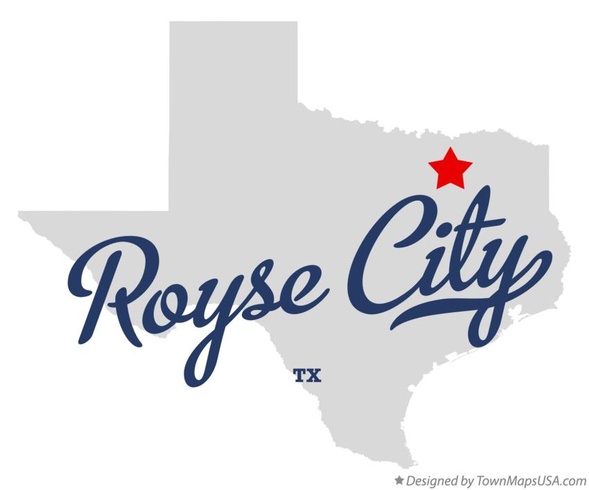Map of Royse City Texas TX