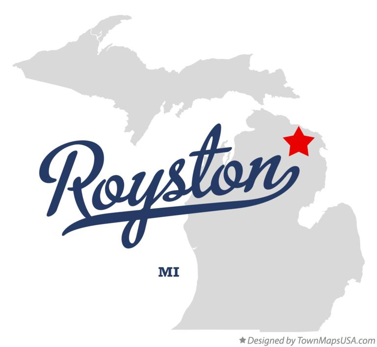 Map of Royston Michigan MI
