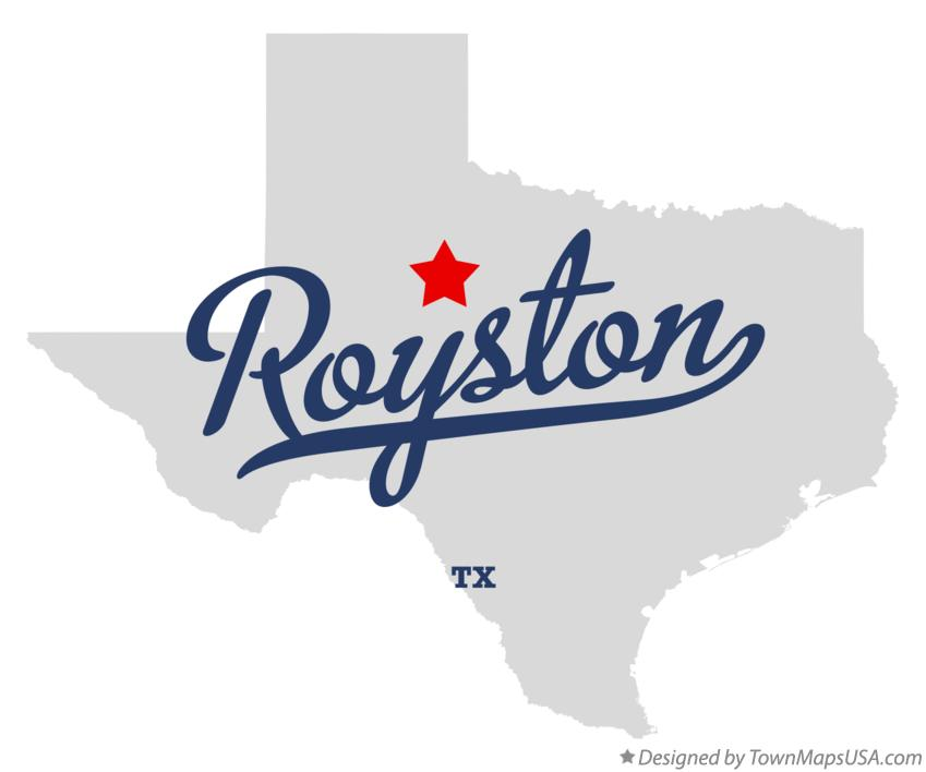 Map of Royston Texas TX