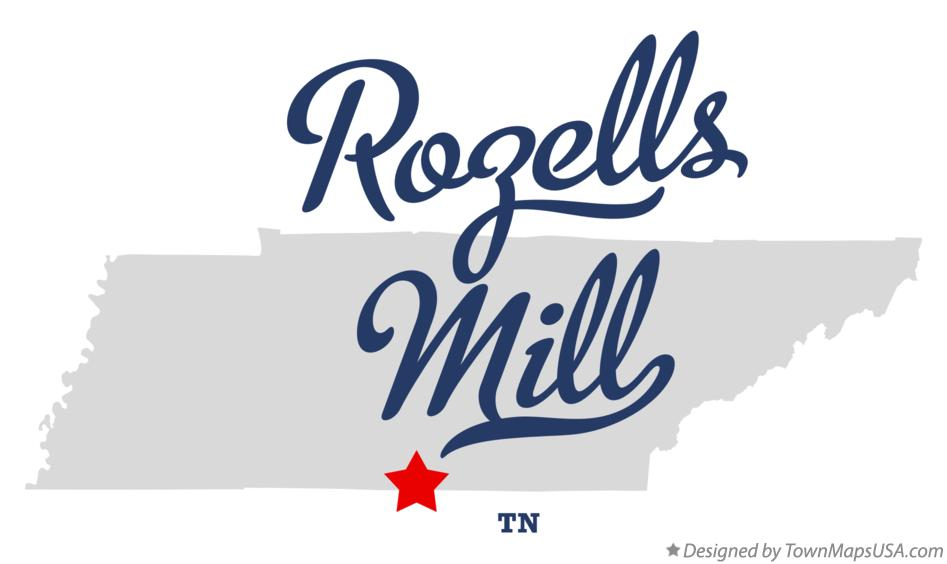 Map of Rozells Mill Tennessee TN