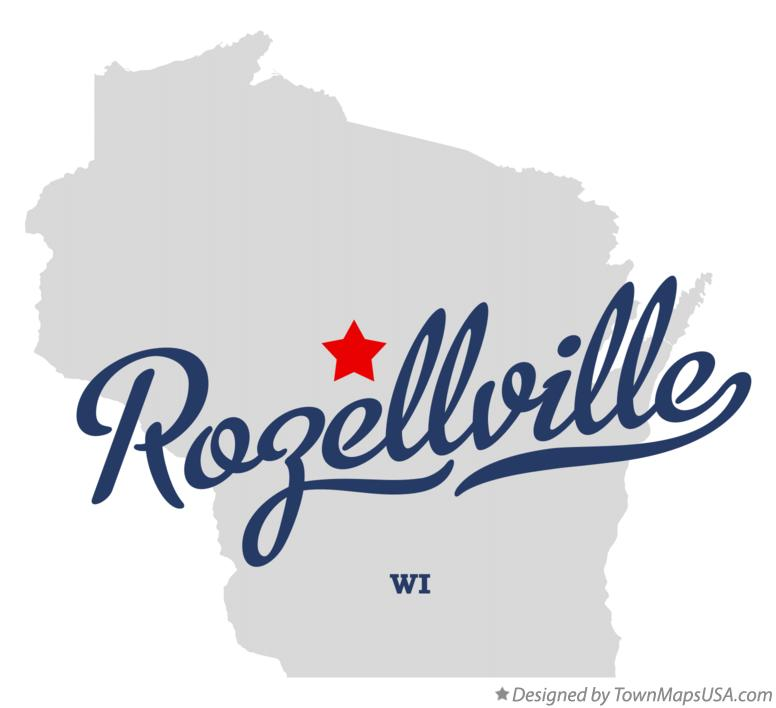 Map of Rozellville Wisconsin WI