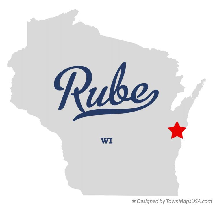 Map of Rube Wisconsin WI