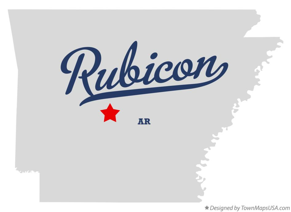 Map of Rubicon Arkansas AR