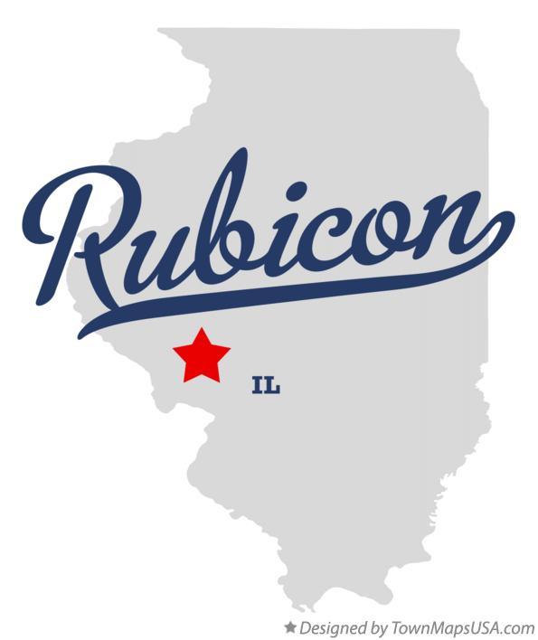 Map of Rubicon Illinois IL