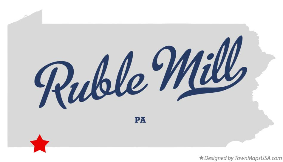 Map of Ruble Mill Pennsylvania PA