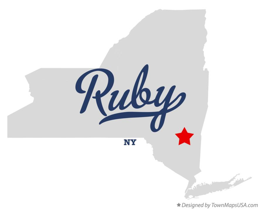 Map of Ruby New York NY