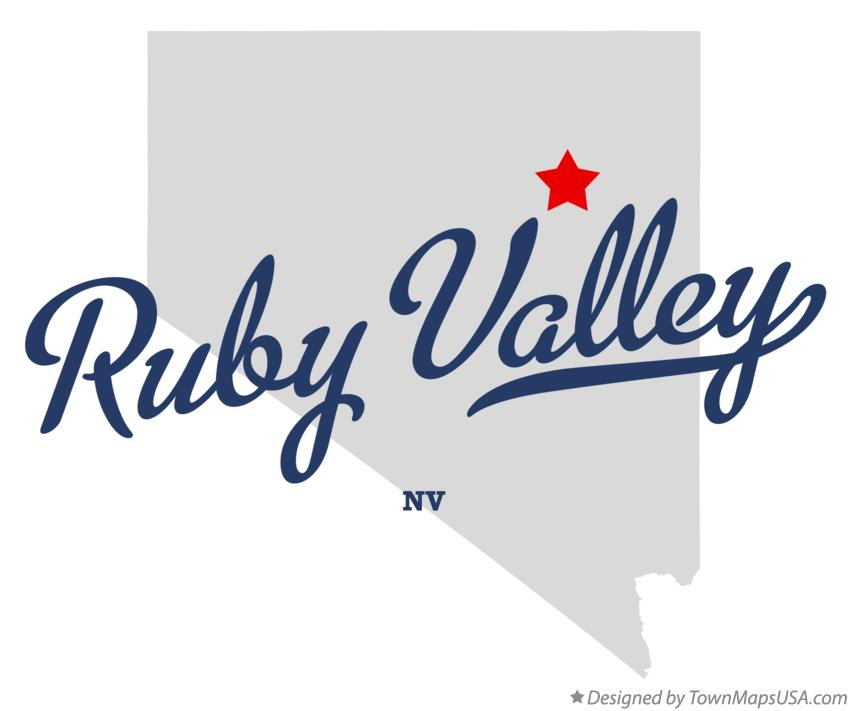 Map of Ruby Valley Nevada NV