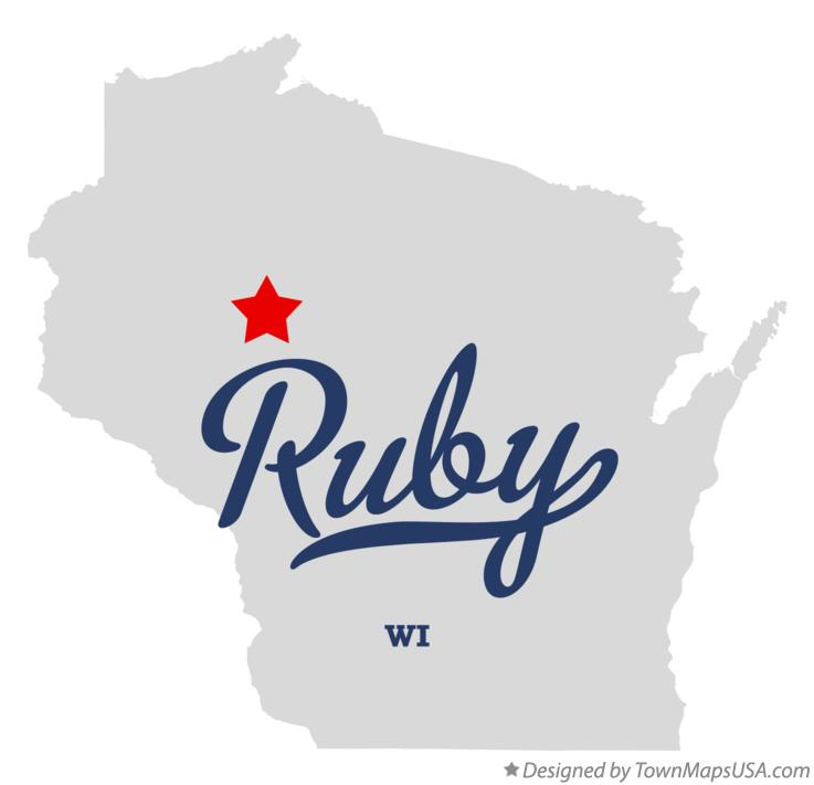 Map of Ruby Wisconsin WI