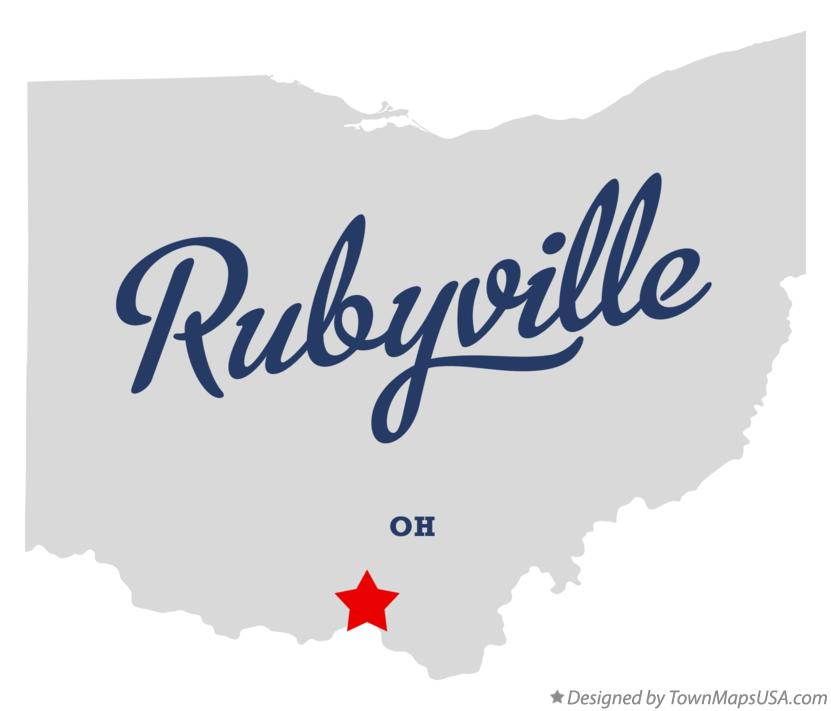 Map of Rubyville Ohio OH
