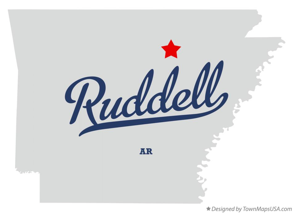 Map of Ruddell Arkansas AR