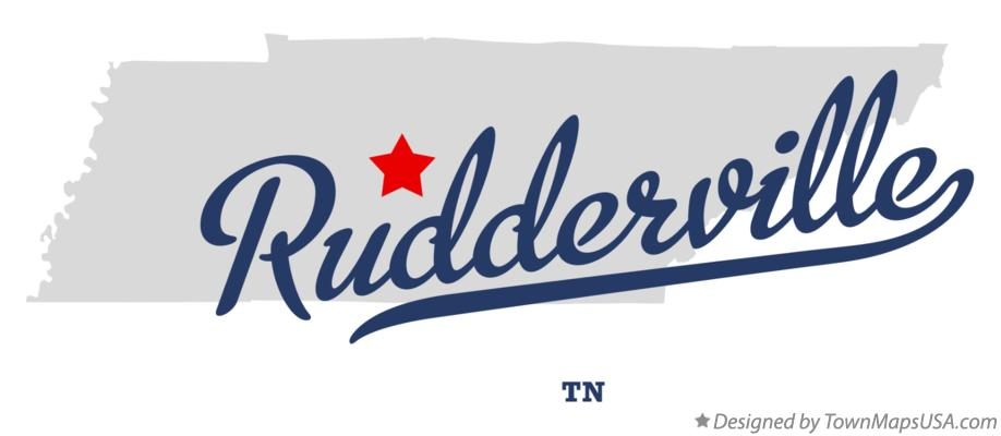 Map of Rudderville Tennessee TN