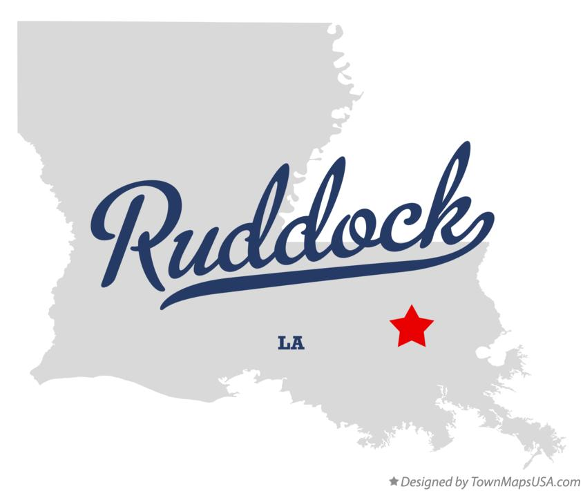 Map of Ruddock Louisiana LA