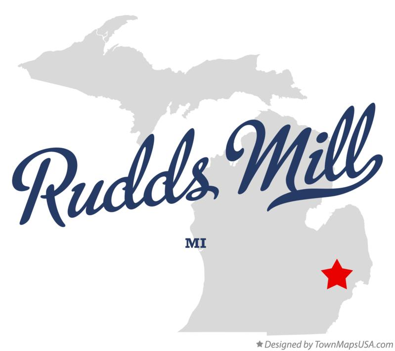 Map of Rudds Mill Michigan MI