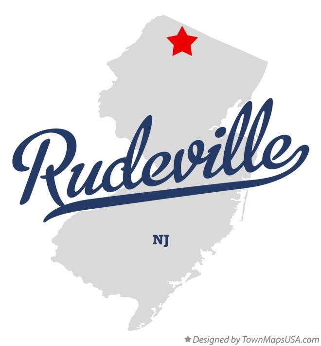 Map of Rudeville New Jersey NJ
