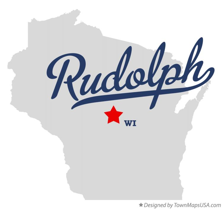 Map of Rudolph Wisconsin WI