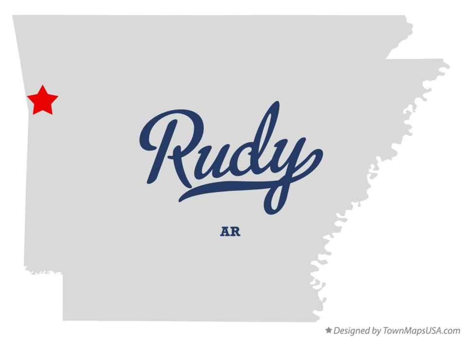 Map of Rudy Arkansas AR