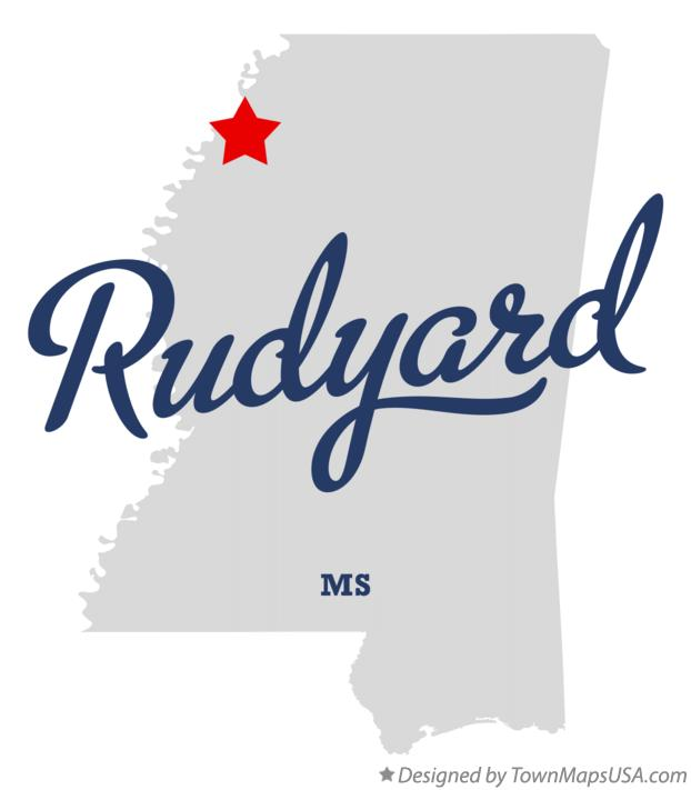 Map of Rudyard Mississippi MS