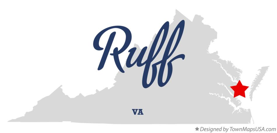 Map of Ruff Virginia VA