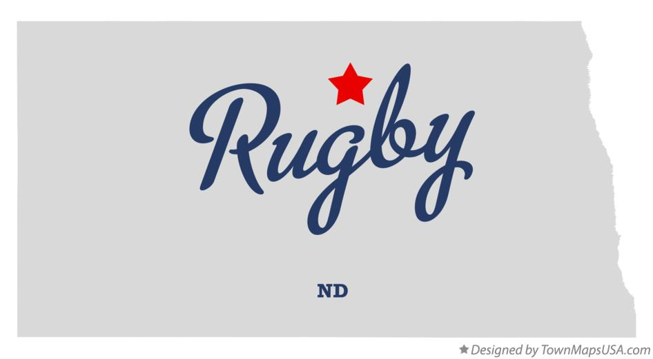Map of Rugby North Dakota ND
