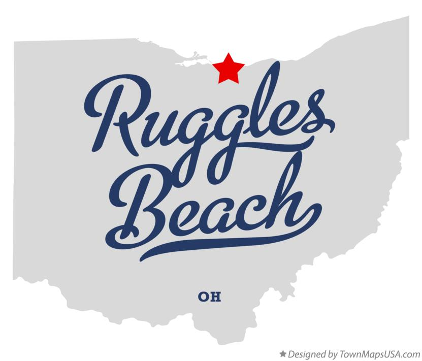 Map of Ruggles Beach Ohio OH