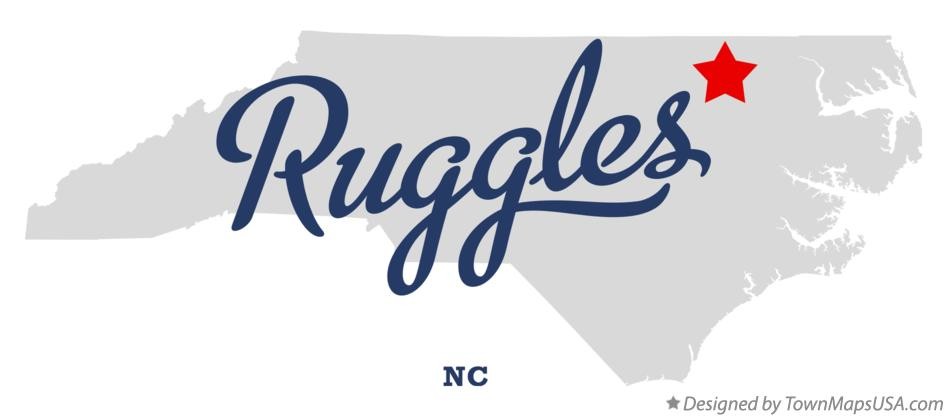 Map of Ruggles North Carolina NC