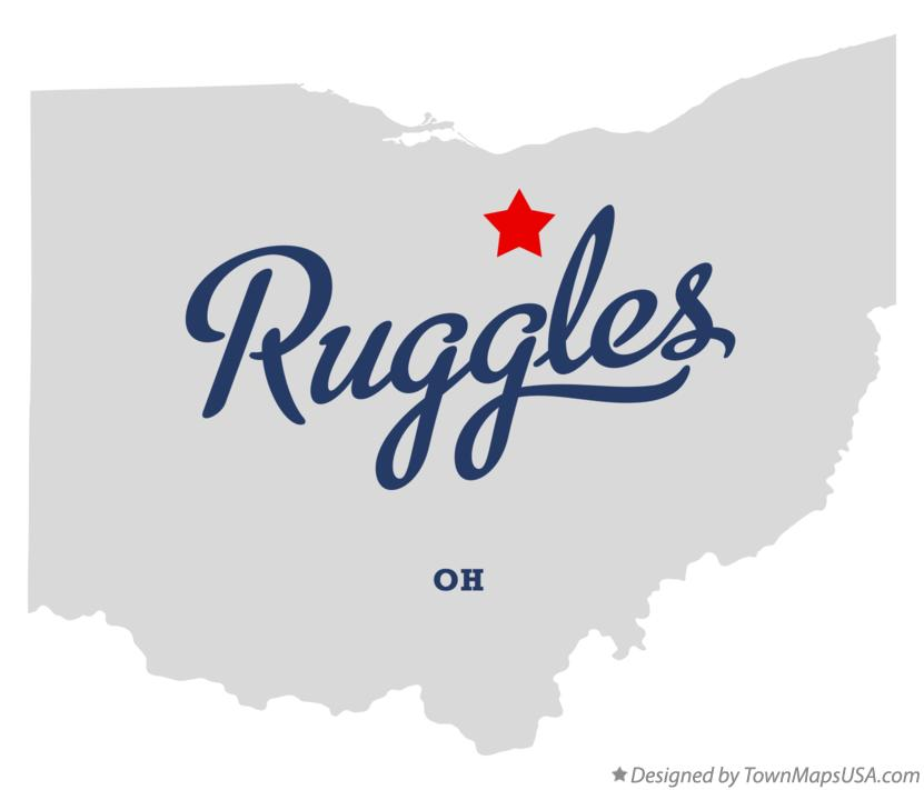 Map of Ruggles Ohio OH
