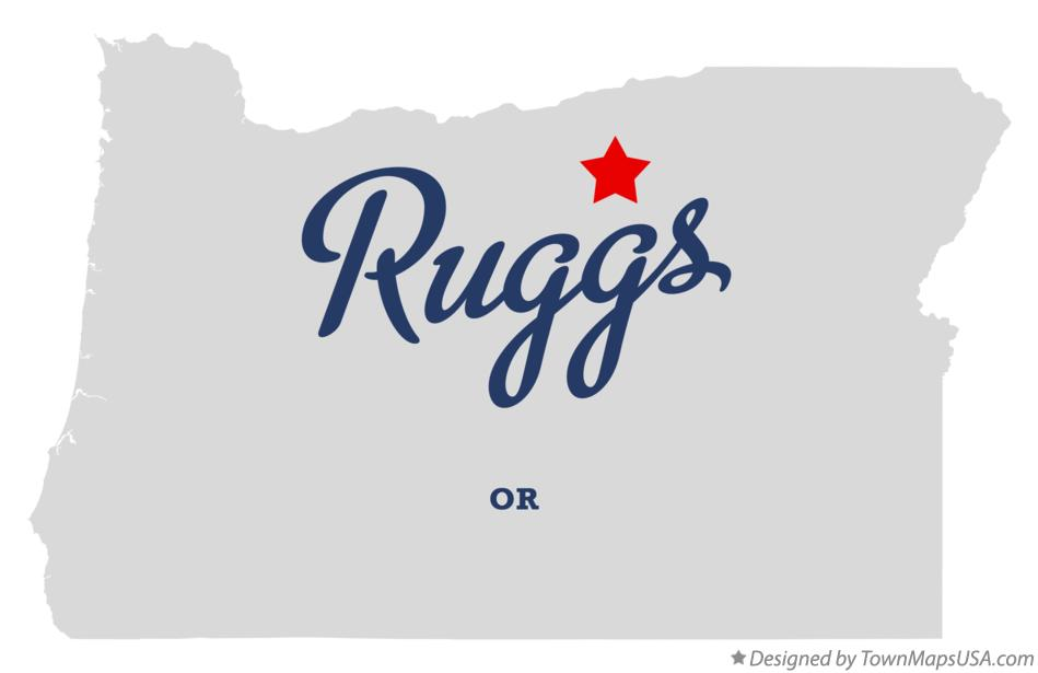 Map of Ruggs Oregon OR