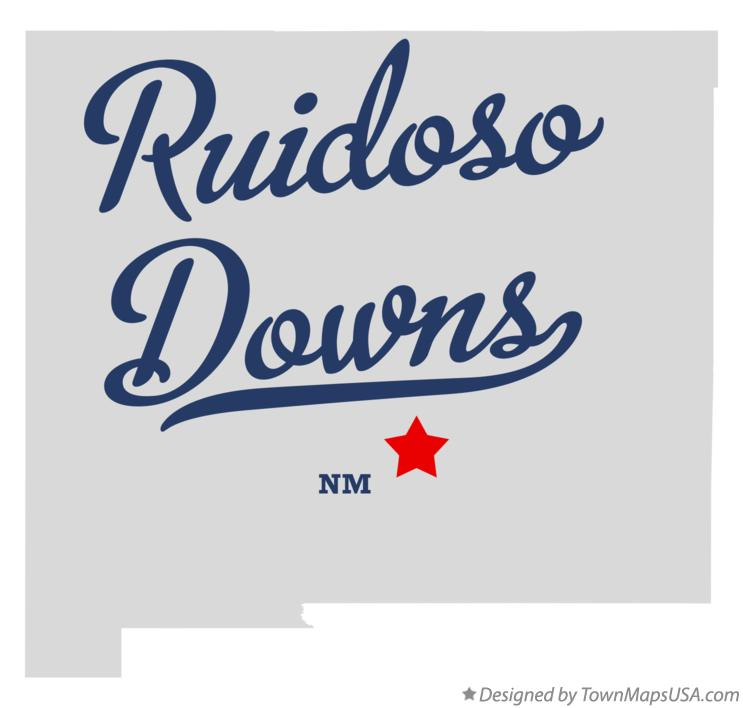 Map of Ruidoso Downs New Mexico NM