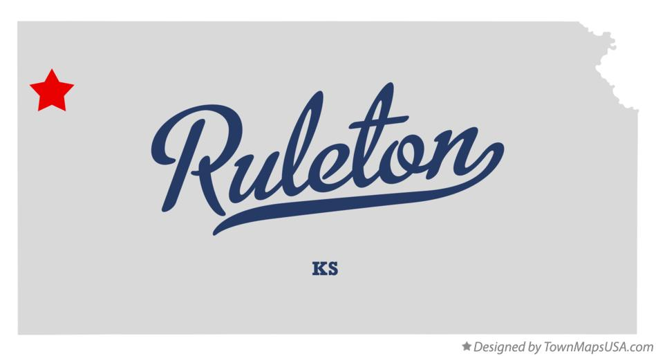 Map of Ruleton Kansas KS
