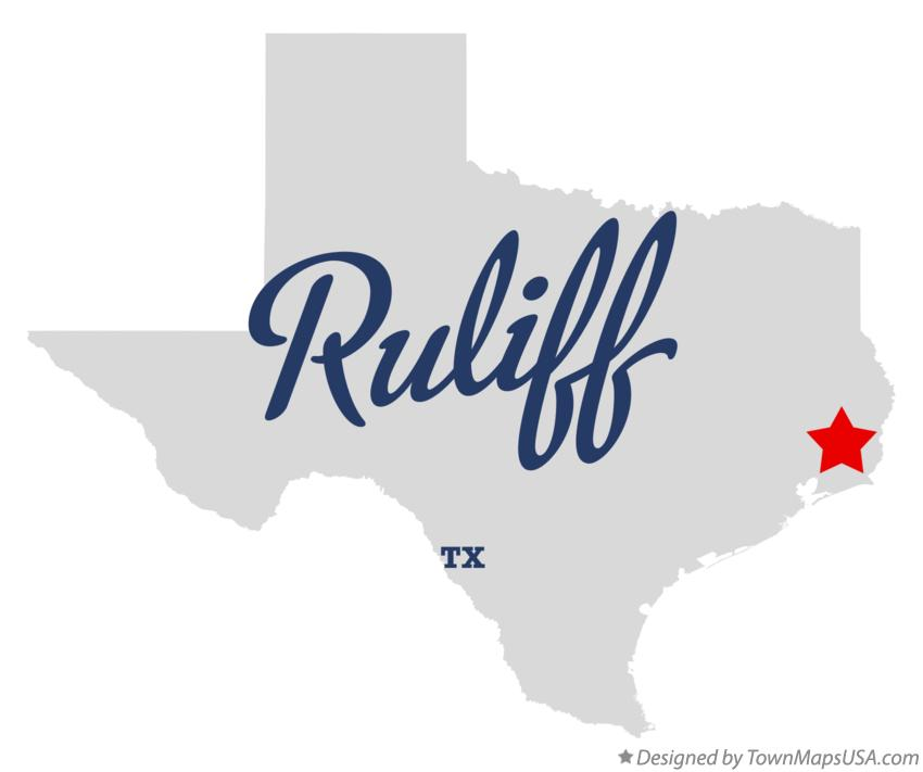 Map of Ruliff Texas TX
