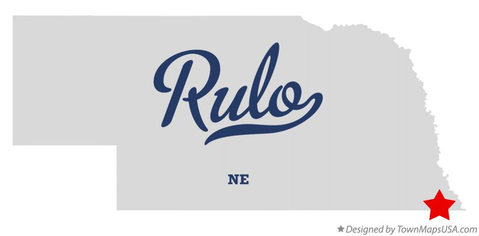 Map of Rulo Nebraska NE