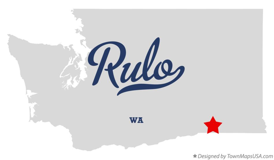 Map of Rulo Washington WA