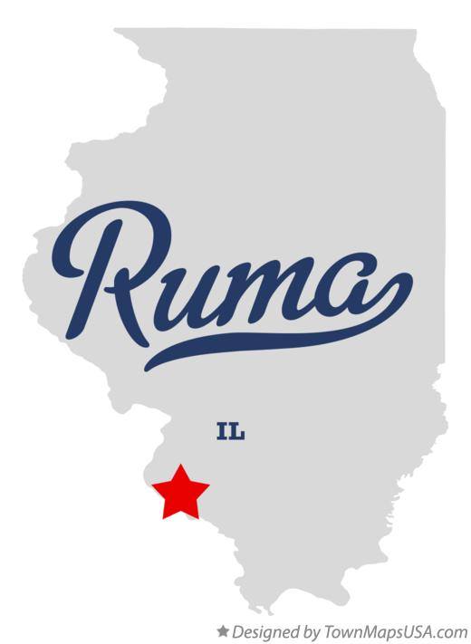 Map of Ruma Illinois IL
