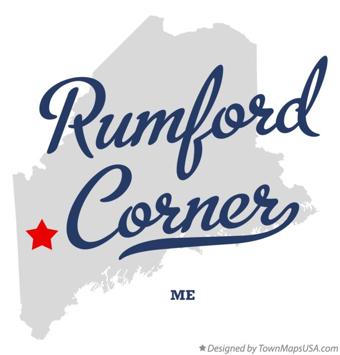 Map of Rumford Corner Maine ME