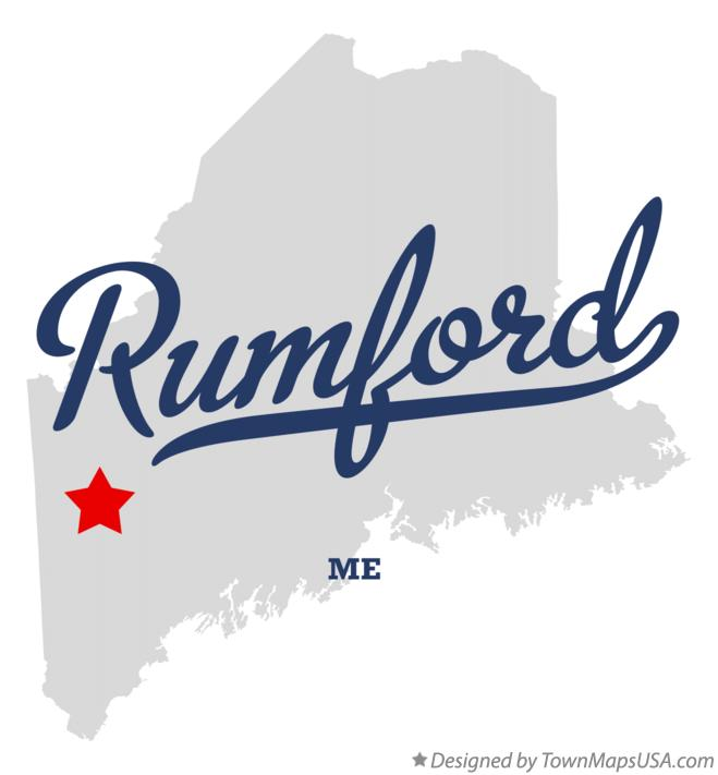 Map of Rumford Maine ME