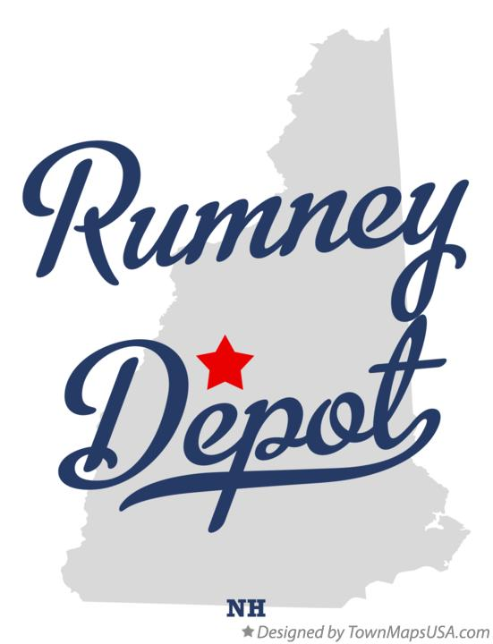 Map of Rumney Depot New Hampshire NH